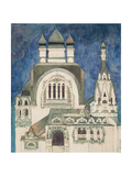 Unrealised Design for a Church at Talashkono, 1899 Giclée-Druck von Mikhail Aleksandrovich Vrubel