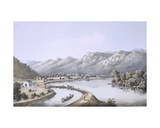 James River Canal Near the Mouth of the North River, Rockbridge County, 1858 Giclee Print by Edward Beyer