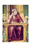 Detail of St. Augustine Reading Rhetoric and Philosophy at the School of Rome, from the Life of… Giclee Print by Benozzo di Lese di Sandro Gozzoli