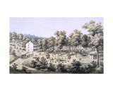 Stribling Springs, Spa Village, Augusta Country, 1858 Giclee Print by Edward Beyer