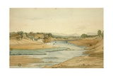 Burhanpur on River Khandeish, Madhya Pradesh, 1834 Giclee Print by Godfrey Thomas Vigne