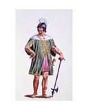 Soldier of Denmark, 1780 Giclee Print by Pierre Duflos