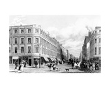 Market Street from the Market Place, Manchester, Engraved by Frederick James Havell, 1829 Giclee Print by John Harwood