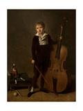 Young Violoncellist, 1810 Giclée-Druck von Jacques Antoine Vallin