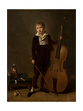 Young Violoncellist, 1810 Giclee Print by Jacques Antoine Vallin