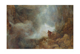 Arthur in the Gruesome Glen Giclee Print by Henry Clarence Whaite