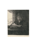 Self Portrait Drawing at a Window, 1648 Giclee Print by  Rembrandt van Rjin