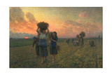 The Last Gleanings, 1895 Giclee Print by Jules Breton