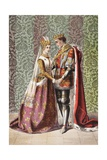 Katharine Speaks in Henry V, Act V, Scene II, 'Dat Is as it Sall Please De Roi Mon Pere', from… Giclee Print by Robert Dudley