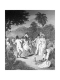 A Negro Festival, Drawn from Nature on the Island of St. Vincent', Etched by Phillip Audinet, 1794 Giclee Print by Agostino Brunias