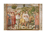 St. Augustine Leaves Rome for Milan, from the Life of St. Augustine, 1463-65 Giclee Print by Benozzo di Lese di Sandro Gozzoli