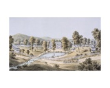 Yellow Sulphur Springs, Montgomery County, 1858 Giclee Print by Edward Beyer
