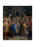 Central Panel of the Triptych of 'Christ Among the Doctors' Giclee Print by Frans I Pourbus