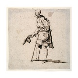 Country Man Standing and Doffing His Cap Giclee Print by Johann Wilhelm Baur