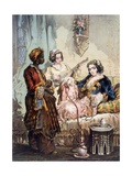 Cup of Coffee, 1858 Giclee Print by Amadeo Preziosi