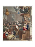 Credulity, Superstition and Fanaticism, Illustration from 'Hogarth Restored: the Whole Works of… Impression giclée par William Hogarth