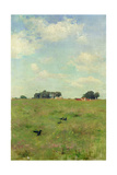 Field with Trees and Sky, or Landscape with Crows Giclee Print by Walter Frederick Osborne