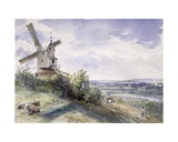 A Windmill at Stoke by Nayland, Near Ipswich, Suffolk, 1814 Giclee Print by John Constable