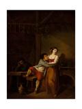 Gallant Scene Giclee Print by Henri Nicolas Van Gorp