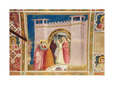 The Meeting of Joachim and Anne at the Golden Gate, C.1305 Giclee Print by  Giotto di Bondone