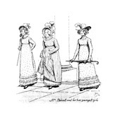 Mrs. Bennet and Her Two Youngest Girls', Illustration from 'Pride and Prejudice' by Jane Austen,… Giclee Print by Hugh Thomson