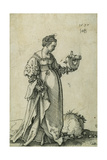 St. Catherine of Alexandria, 1537 Giclee Print by Hans Sebald Beham