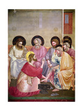 Christ Washing the Disciples' Feet, Detail of Christ and Six Disciples, C.1303-05 Giclée-Druck von  Giotto di Bondone