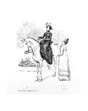Cheerful Prognostics', Illustration from 'Pride and Prejudice' by Jane Austen, Edition Published… Giclee Print by Hugh Thomson
