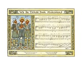 We Be Three Poor Mariners', Song Illustration from 'Pan-Pipes', a Book of Old Songs, Newly… Giclee Print by Walter Crane