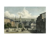Newcastle from Westgate Hill, Engraved by Edward Finden, 1830 Giclee Print by William Westall