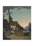 Harting Church at Sunset Giclee Print by William Gunning King