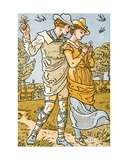 It Was a Lover and His Lass', Song Illustration from 'Pan-Pipes', a Book of Old Songs, Newly… Giclee Print by Walter Crane