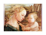Detail of Madonna and Child with Angels, C.1455 (Detail) Giclee Print by Fra Filippo Lippi
