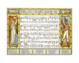 The Girl I'Ve Left Behind Me', Song Illustration from 'Pan-Pipes', a Book of Old Songs, Newly… Giclee Print by Walter Crane