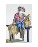 Akasini, King of Assinie, 1780 Giclee Print by Pierre Duflos