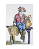 Akasini, King of Assinie, 1780 Giclee Print by Pierre Duflos