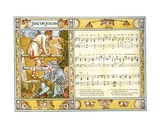 Jog On, Jog On', Song Illustration from 'Pan-Pipes', a Book of Old Songs, Newly Arranged and with… Giclee Print by Walter Crane