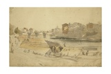 View on Jylum/Jhelum - Kashmir City Looking Upstream, Srinagar, 1837 Giclee Print by Godfrey Thomas Vigne