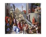 Joseph with Jacob in Egypt C.1515 Giclee Print by Jacopo da Carucci Pontormo