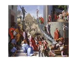 Joseph with Jacob in Egypt C.1515 Giclee Print by Jacopo Pontormo