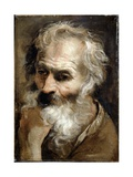 Head of an Old Man, C.1590-92 Giclée-tryk af Annibale Carracci