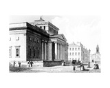 The Royal Institution, Manchester, Engraved by Richard Winkles, C.1836 Giclee Print by John Harwood