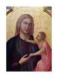 Virgin and Child, Central Panel of the Badia Altarpiece, C.1301 (Detail) Giclee Print by  Giotto di Bondone