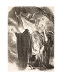 Illustration of the Witches around their Cauldron in Macbeth, from 'The Illustrated Library… Giclee Print