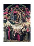 Jomfruens kroning Giclée-tryk af Ridolfo Ghirlandaio