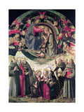 Coronation of the Virgin Giclee Print by Ridolfo Ghirlandaio