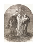 Illustration of the Witches from Macbeth, from 'The Illustrated Library Shakespeare', Published… Giclee Print