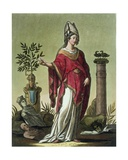 Sybil of Eritrea with Her Insignia, 1796 Giclee Print by Jacques Grasset de Saint-Sauveur