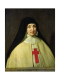 Portrait of Angelique Arnauld D'Andilly Giclee Print by Philippe De Champaigne