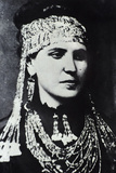 Sophia Schliemann Wearing Treasures Recovered at Hisarlik, 1874 Photographic Print